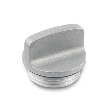GN 442 Aluminum Threaded Plugs, with Finger Grip with Viton Seal