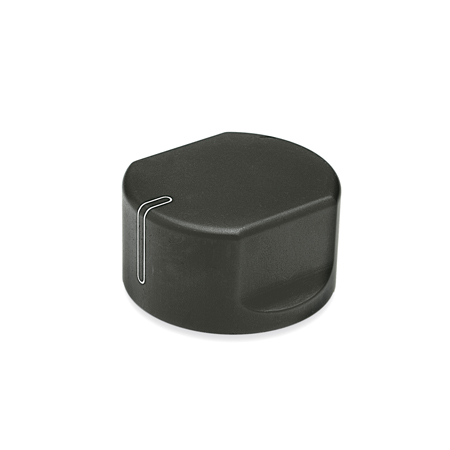 GN 729 Metric Size, Aluminum, Control Knobs, Straight Shoulder Type