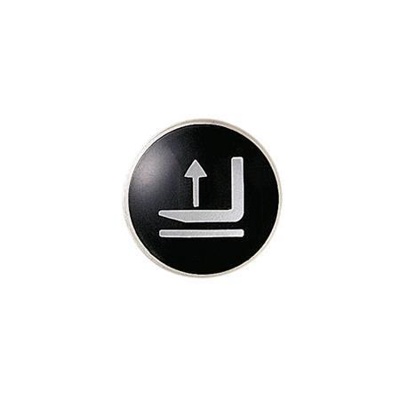 EN 517.1 Símbolos de posicionamiento y control para perillas cónicas y empuñaduras con forma de hongo Sistema de posicionamiento: F1 - Elevar