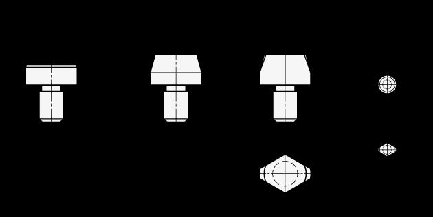 DIN 6321 Pasadores de posición / asiento de acero boceto