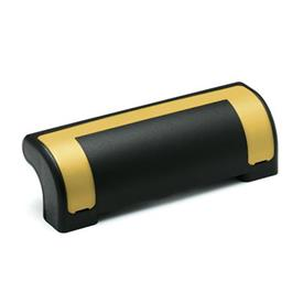 EN 630.2 Technopolymer Plastic Ergostyle® Guard Safety Handles Color of the cover: DGB - Yellow, RAL 1021