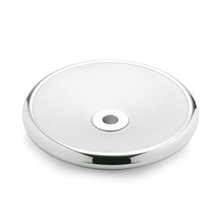 DIN 3670 Aluminio, Volantes de Disco Sólidos Código del orificio: B - Sin ranura