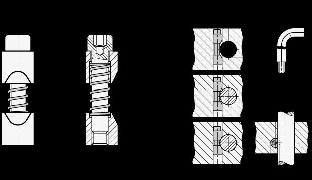 GN 928 Unidades de sujeción del eje, de acero, para ejes o tubos redondos boceto