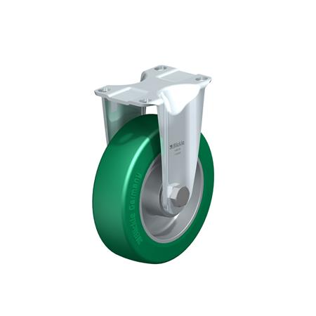 B-ALST Steel Pressed Aluminum Fixed Casters, with Medium Duty Brackets Type: K - Ball Bearing