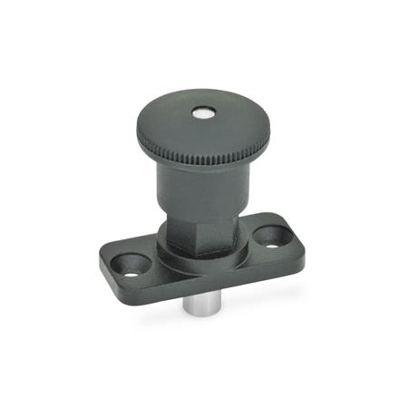 GN 822.8 Zinc Die-Cast Mini Indexing Plungers, Lock-Out and Non Lock-Out, with Hidden Lock Mechanism, Plate Mount Type: C - Lock-out