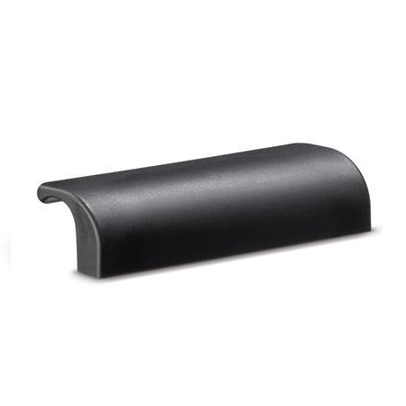 EN 130 Technopolymer Plastic Ledge Handles, with Plain Bores or Tapped Inserts