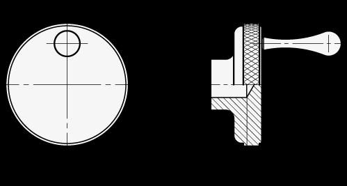 SSCK Perillas de control de acero inoxidable, con o sin mango fijo boceto