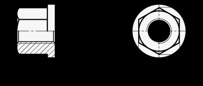 DIN 6331 Tuercas hexagonales de acero boceto
