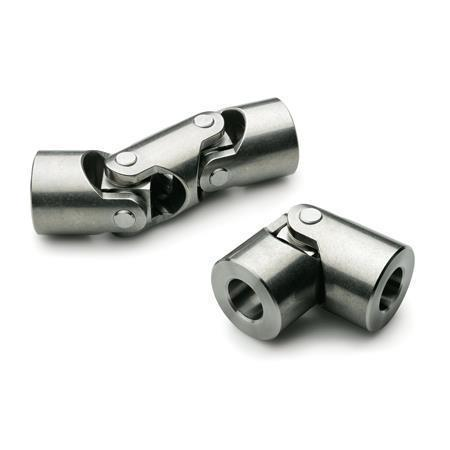 DIN 808 Stainless Steel Universal Joints with Friction Bearing, Single or Double Jointed