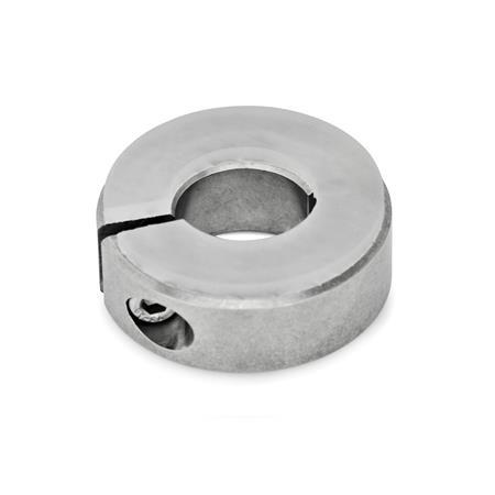 GN 7062.3 Stainless Steel Semi-Split Set Collars, with Dampening Washer