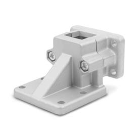 GN 171 Aluminum, Split Assembly, Flanged Base Plate Connector Clamps Finish: BL - Blank