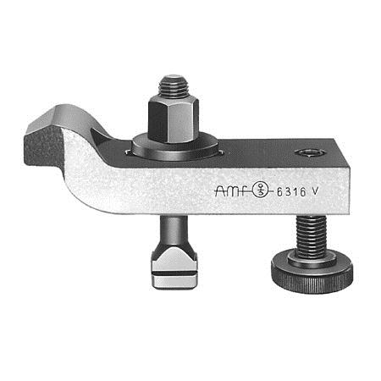 NO. 6316 V Steel Adjustable Goose Neck Clamps, With Adjusting Screw, without T-Slot Bolt