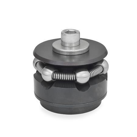 GN 411.2 Dispositivos de bloqueo circular de acero Tipo: K - con bolas de sujeción