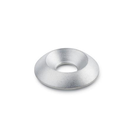 GN 185 Stainless Steel Countersunk Washers with Plastic Cover Disk