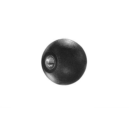 WD 595 Polypropylene Plastic Ball Knobs, Tapped Insert Type