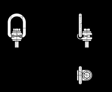 GN 586 Anillos de carga giratorios de seguridad, de acero boceto