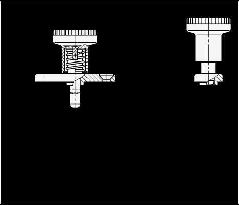 GN 608.1 Posicionadores de indexado con pasador de posicionador de acero, placa de montaje, bloqueo boceto