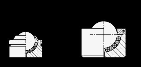 GN 509.4 Unidades de transferencia con bola de acero de alta resistencia sin brida boceto