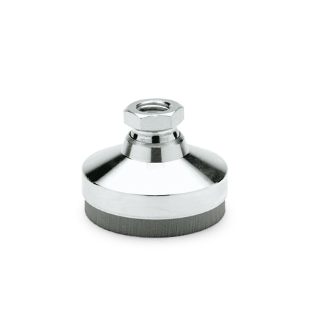 GN 342.1 Steel Vibration Dampening Leveling Mounts, Tapped Type