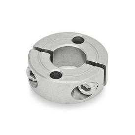 GN 7072.2 Stainless Steel Two-Piece Split Set Collars, with Flange Holes