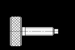 DPHS Tornillos de pulgar moleteados con punta cilíndrica boceto