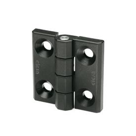EN 237.1 Plastic Hinges, Countersunk Thru Hole, Socket Head Thru Hole, Threaded Stud, or Combination Types