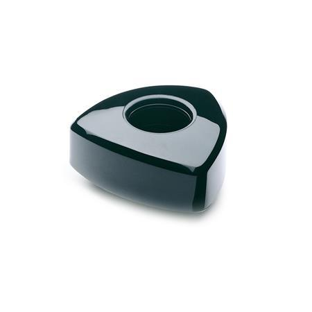 EN 5341 Technopolymer Plastic Triangular knobs, with Threaded or Square Through Bore