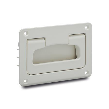 EN 825.2 Technopolymer Plastic Folding Handle with Recessed Tray, with Spring-Loaded Return, Cleanline