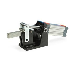 GN 861 Steel Heavy-Duty Pneumatic Toggle Clamps, with Horizontal Mounting Base, with Magnetic Piston