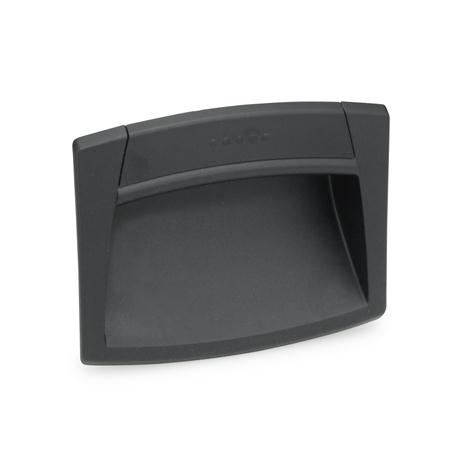 EN 731 Plastic Gripping trays, clip-in type Color: SG - Black-gray, RAL 7021