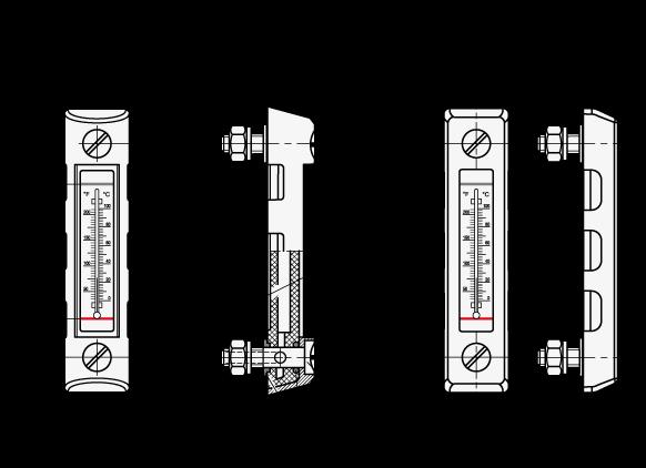 EN 650.2 Indicadores de nivel de líquidos con alojamiento protector boceto