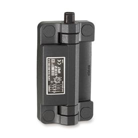 EN 239.6 Technopolymer Plastic Hinges with Integrated Safety Switch, With Connector Plug