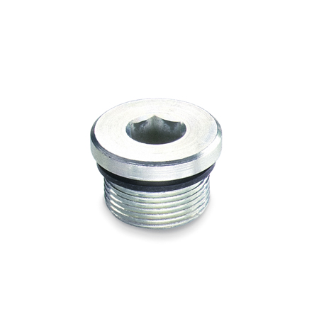 GN 749 Steel Threaded Pipe Plugs, zinc plated, with NBR Synthetic Rubber Seal