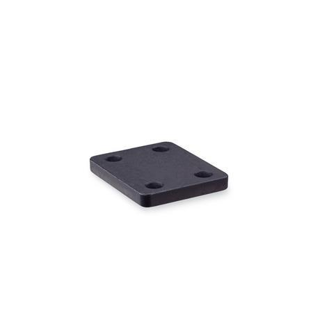 GN 910.9 Steel Base Plates for Knee Lever Modules, Accessories for knee lever modules