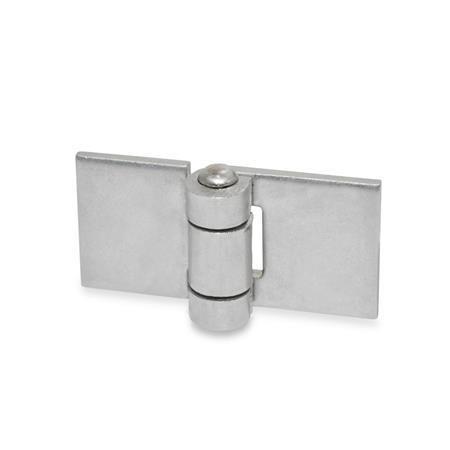 GN 1362 Stainless Steel Sheet Metal Hinges, for Welding