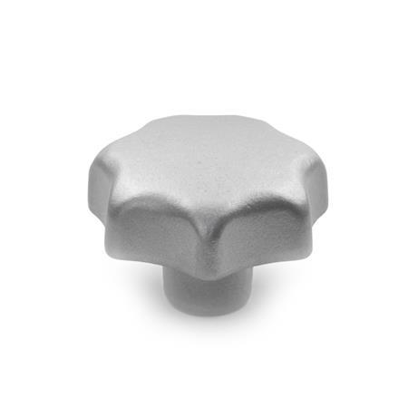 DIN 6336 Stainless Steel Star Knobs, Blank Type