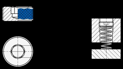 GN 252.5 Tapones roscados de acero inoxidable boceto