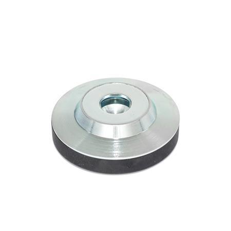 GN 6311.3 Almohadillas de empuje de acero Tipo: KR - con tapón de plástico, no deslizante