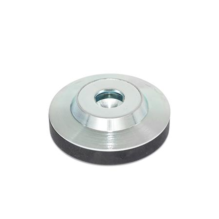 GN 6311.3 Steel Thrust Pads Type: KR - with plastic cap, non-gliding