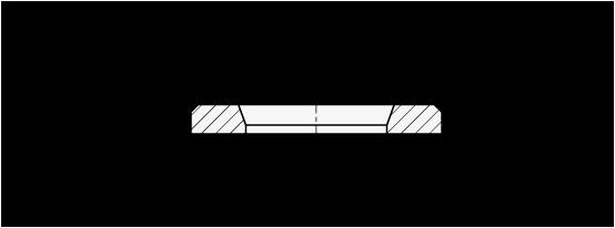 GN 6339 Arandelas de servicio pesado, de acero, tipo elevado boceto