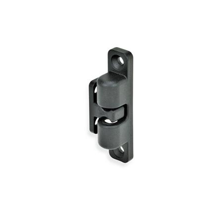 GN 4490 Zinc Die-Cast Ball Catches Finish: SW - Black, RAL 9005, textured finish