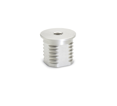 GN 992.5 Metric Size, Stainless Steel, Threaded Tube Inserts, Round or Square Type