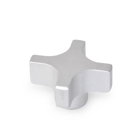 CKS Aluminum Extruded Hand knobs, Tapped, Tapped Through Hole or Blind Bore