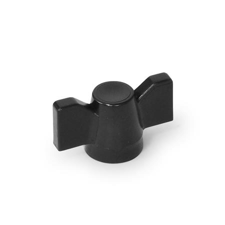 GB1 Nylon Plastic Wing Nuts with Tapped Insert