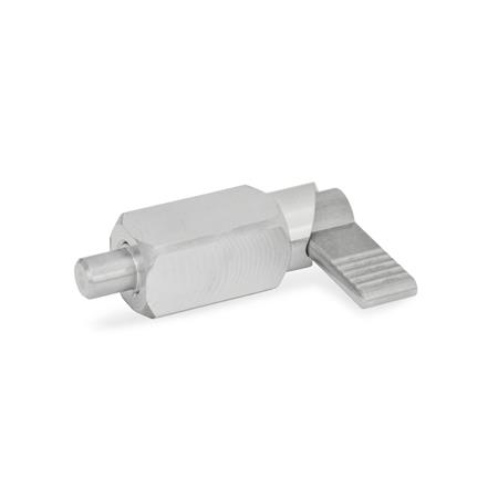 GN 612.3 Stainless Steel Square Weldable Cam Action Indexing Plungers, for welding Type: A - without plastic cap
