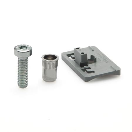 EN 649.1 Plastic Adapter, For Mounting EN 649 Panel Support Clamps to Round Tubing