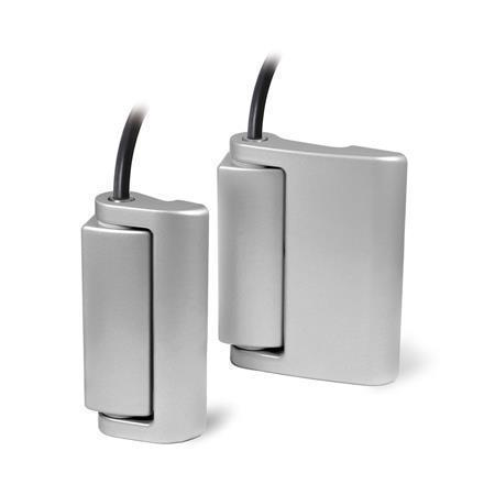 GN 139.1 Zinc Die-Cast Hinges with Electrical Switching Function, with Safety Switch, with Connector Cable