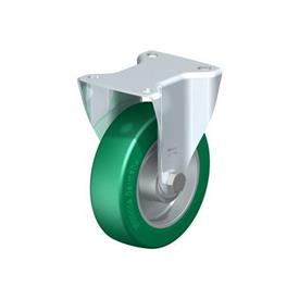 BK-ALST Steel Pressed Steel Fixed Casters, with Medium Heavy Duty Brackets
