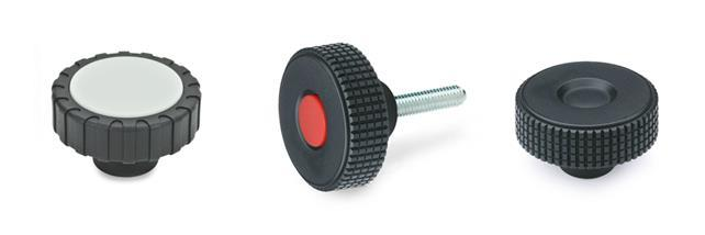 Knurled knobs