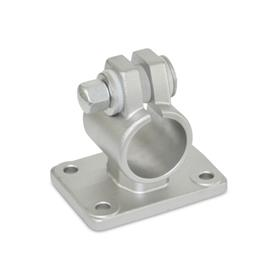 GN 146.5 Stainless Steel Flanged Connector Clamps, with Four Mounting Holes